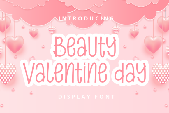Print on Demand: Beauty Valentine Day Display Font By Planetz studio