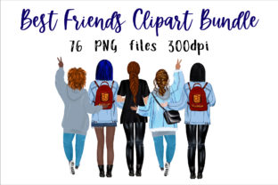 Print on Demand: Best Friend Clipart, Girls Clipart, Mug Graphic Illustrations By NatashaPrando