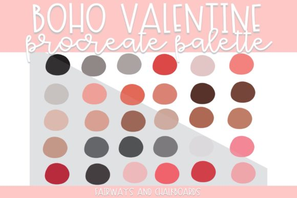 Print on Demand: Boho Valentine Procreate Color Palette Graphic Actions & Presets By Fairways and Chalkboards