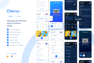 Borsa EWallet – Finance Manager App Graphic UX and UI Kits By dedisain