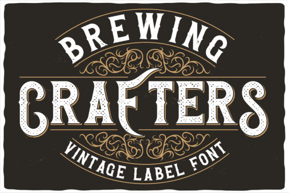 Print on Demand: Brewing Crafters Display Font By Vozzy Vintage Fonts And Graphics
