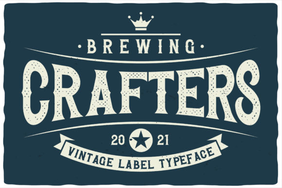 Brewing Crafters Font Design
