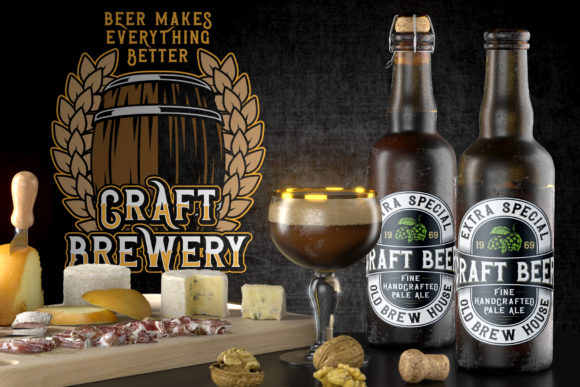 Brewing Crafters Font Design Item
