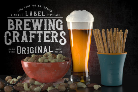 Brewing Crafters Font Popular Design