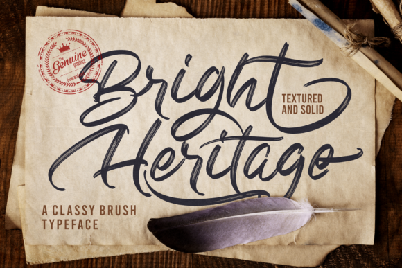 Print on Demand: Bright Heritage Script & Handwritten Font By figuree studio