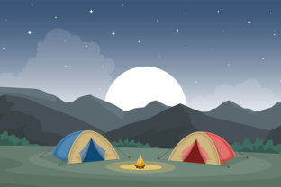 Camping Adventure Outdoor Park Mountain Graphic Illustrations By jongcreative