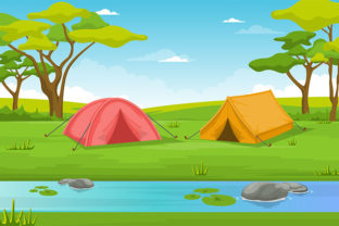 Camping Adventure Outdoor Park River Graphic Illustrations By jongcreative