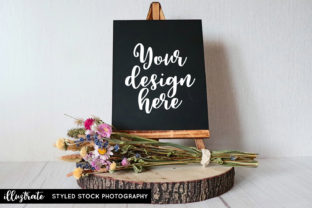 Print on Demand: Chalkboard Easel Styled Stock Photo Graphic Product Mockups By illuztrate