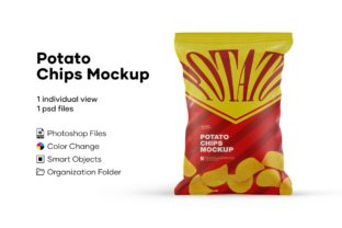 Chips Bag Mockup Graphic Product Mockups By greenart
