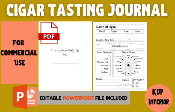 Print on Demand: Cigar Tasting Journal | KDP Interior Graphic KDP Interiors By Cool Worker