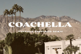 Print on Demand: Coachella Serif Font By saridezra