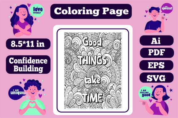 Print on Demand: Confidence Building Mandala for Adults10 Graphic Coloring Pages & Books Adults By KDP_Interior_101
