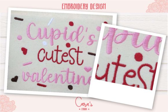Cupid's Cutest Valentine Embroidery Item