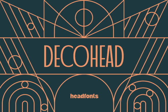Print on Demand: Decohead Display Font By Headfonts