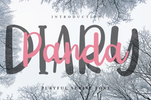 Print on Demand: Diary Panda Script & Handwritten Font By Inermedia STUDIO