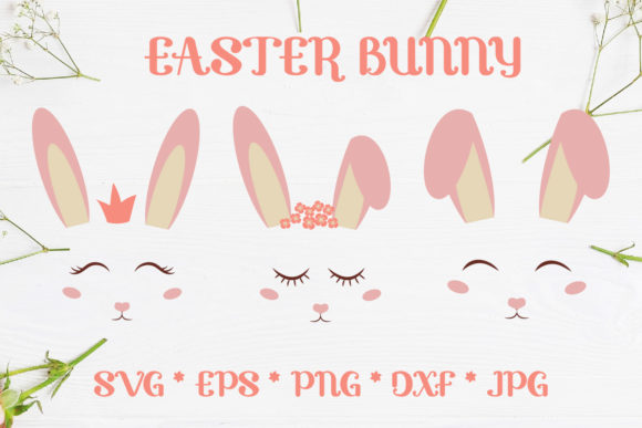 Easter Bunny Ears Cute Kit SVG Graphic Crafts By sombrecanari