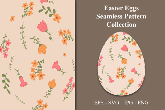 Easter Florals Seamless Pattern Graphic Patterns By zhyecarther