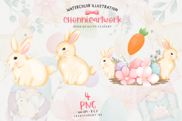 Easter Bunny Gnome Clipart, Gnome Easter Graphic Preview