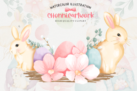 Easter Bunny Gnome Clipart, Gnome Easter Graphic Downloadable Digital File