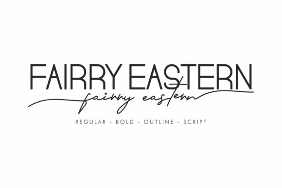 Print on Demand: Fairry Eastern Script & Handwritten Font By NihStudio