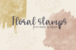 Floral Stamps Procreate Brushes Graphic Brushes By Firefly Designs