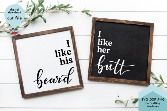 Print on Demand: Funny Bathroom Sign Set - Hand Lettered Graphic Crafts By Lettershapes