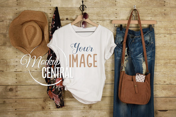 Girl's Country Rustic T-Shirt Mockup Graphic Product Mockups By Mockup Central