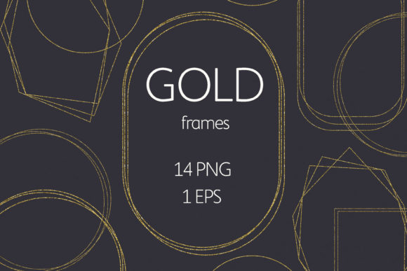 Gold Frames Clipart Graphic Illustrations By olesiafrolowa