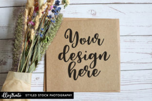 Print on Demand: Greeting Card Mockup | Styled Photo Graphic Product Mockups By illuztrate