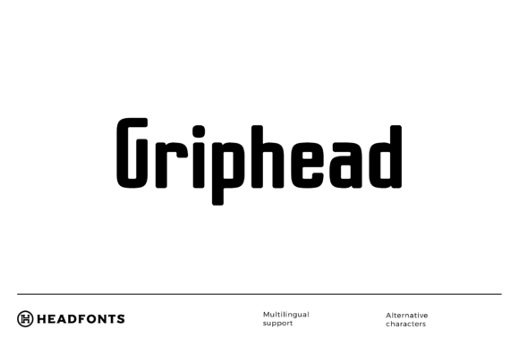 Print on Demand: Griphead Sans Serif Font By Headfonts
