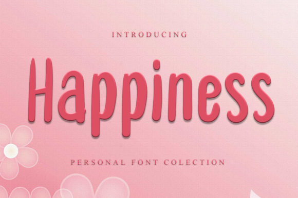 Print on Demand: Happiness Display Font By dazzlinggleam