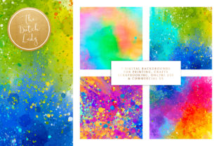 Print on Demand: Happy Carnival Splatter Backgrounds Graphic Backgrounds By daphnepopuliers 2