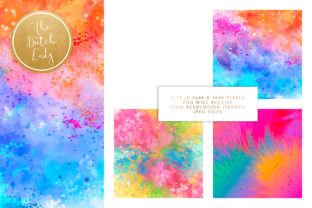 Print on Demand: Happy Carnival Splatter Backgrounds Graphic Backgrounds By daphnepopuliers 3
