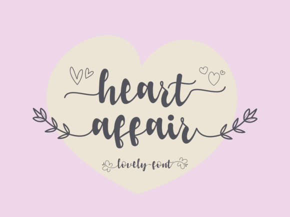 Print on Demand: Heart Affair Script & Handwritten Font By nryntdw