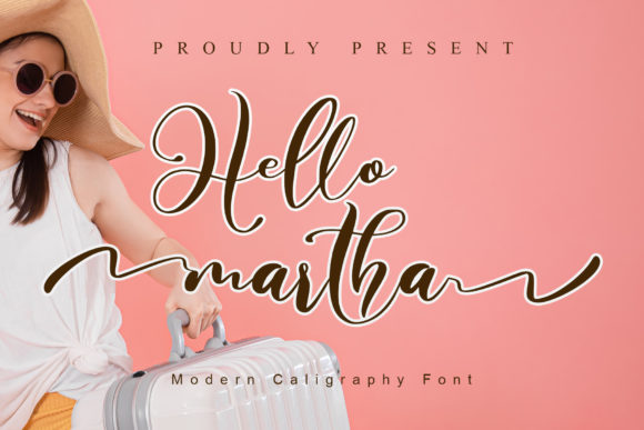 Print on Demand: Hello Martha Script & Handwritten Font By noftanti