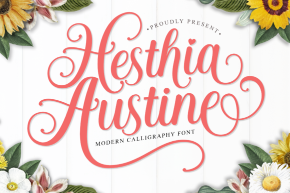 Print on Demand: Hesthia Austine Script & Handwritten Font By Holydie Studio