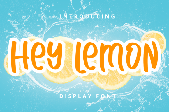 Print on Demand: Hey Lemon Display Font By Planetz studio