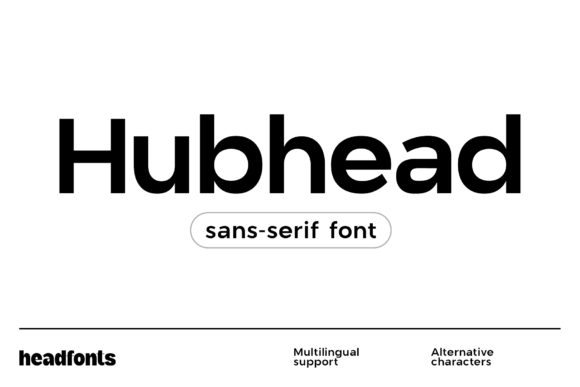Print on Demand: Hubhead Sans Serif Font By Headfonts