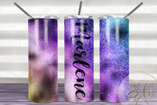 Iridescent Skinny Tumbler Sublimation Graphic Print Templates By paperart.bymc