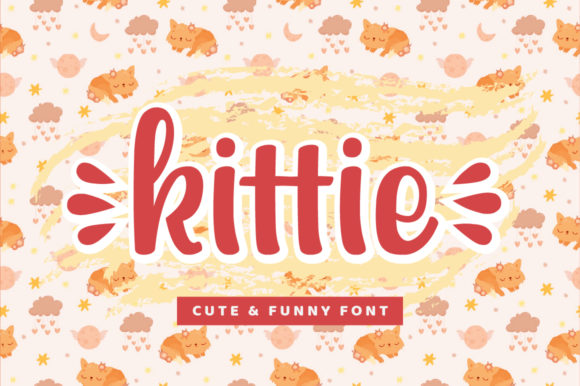 Print on Demand: Kittie Script & Handwritten Font By StudioAKTYPE