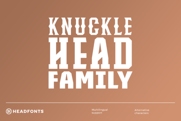 Print on Demand: Knucklehead Family Display Font By Headfonts