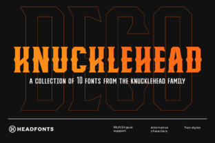 Print on Demand: Knucklehead Display Font By Headfonts