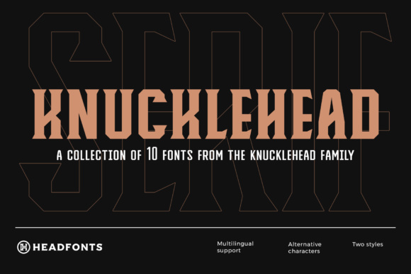 Print on Demand: Knucklehead Serif Font By Headfonts