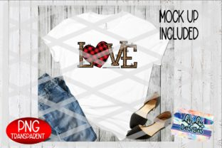 Print on Demand: Leopard Love Plaid Heart Sublimation PNG Graphic Illustrations By Lori Lou Designs