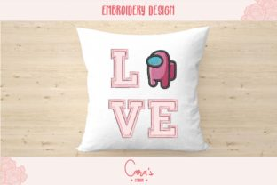 Love Among Us Aplique Valentine's Day Embroidery Design By carasembor