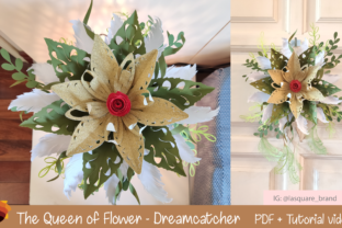Print on Demand: Luxury Queen Paper Flower Template Graphic 3D Flowers By lasquare.info