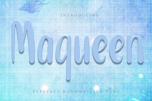 Print on Demand: Maqueen Display Font By dazzlinggleam