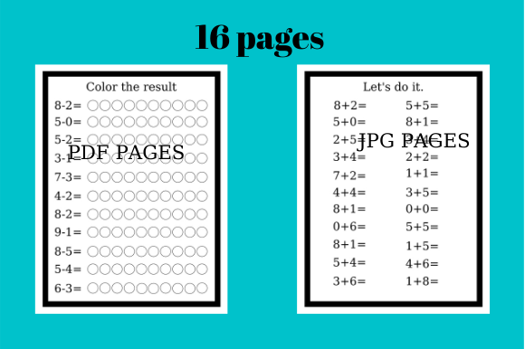 Print on Demand: Math 16 Pages, Educational for Kids Graphic Teaching Materials By Davina Danvers