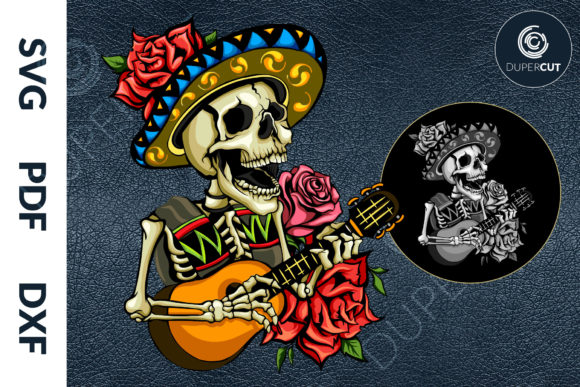 Mexican Skull Graphic Illustrations By DuperCut