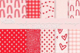 Print on Demand: Modern Valentine's Day Digital Paper Graphic Backgrounds By Fairways and Chalkboards
